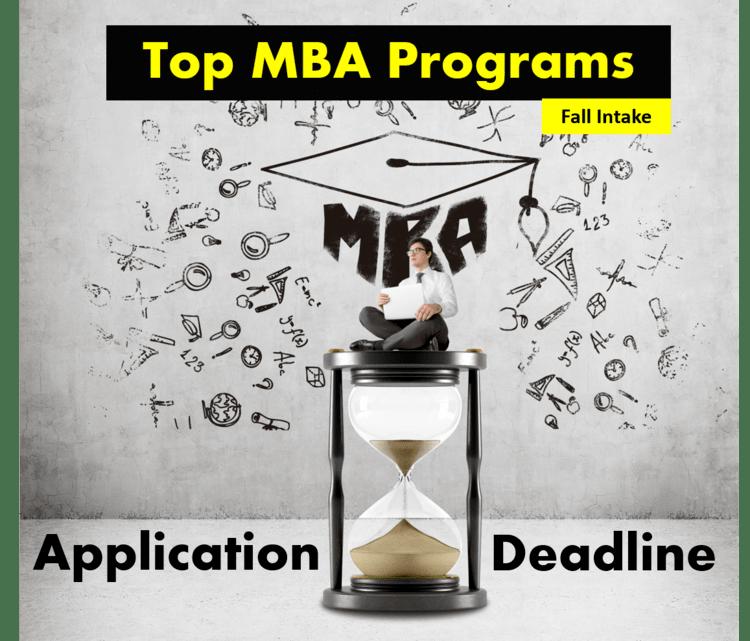 MBA Application Deadlines