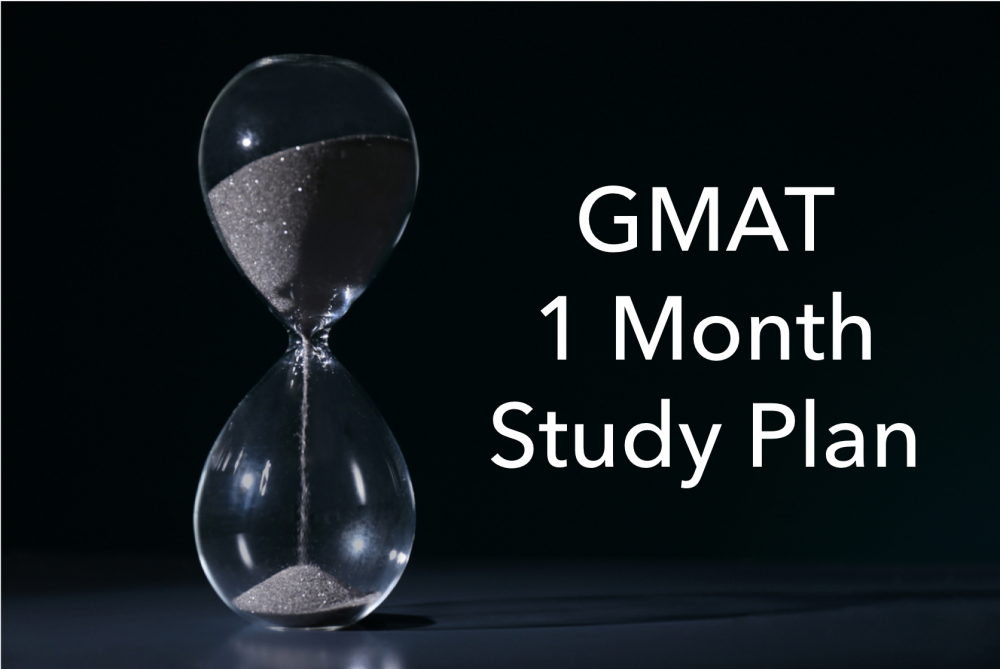 gmat 1 month study plan
