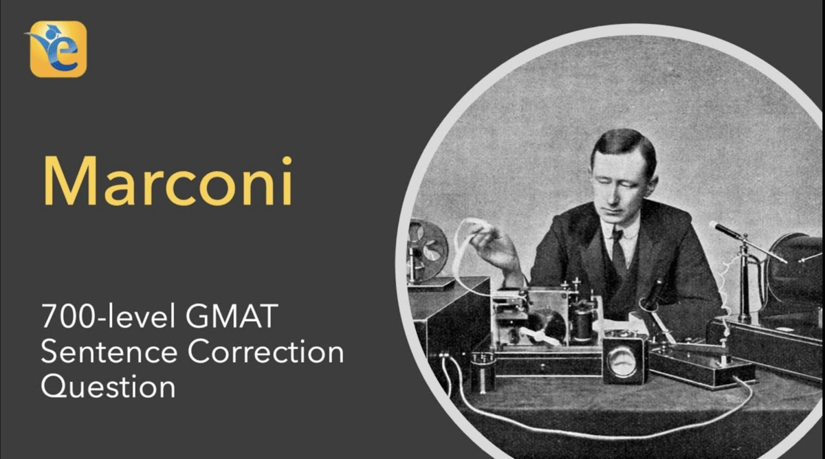 Marconi conception of the radio GMAT SC question