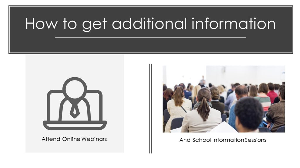 How to choose business school - Attend Business School webinar and information sessions