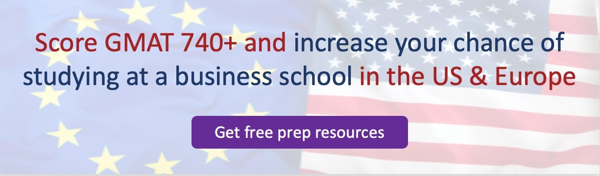 average GMAT scores of US and european business schools