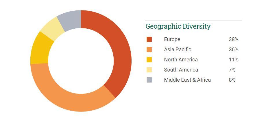 INSEAD geographic diversity