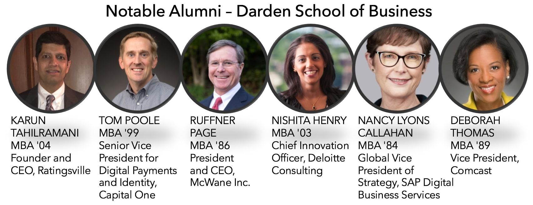 Darden School of business notable alumni