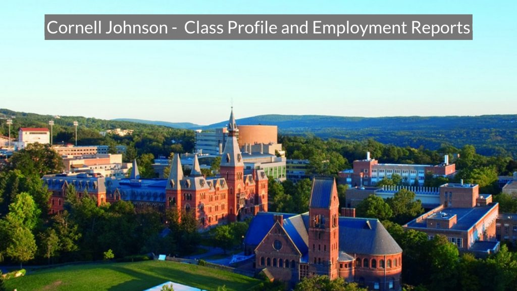 Cornell Johnson - Class Profile, Career and Employment Outcomes