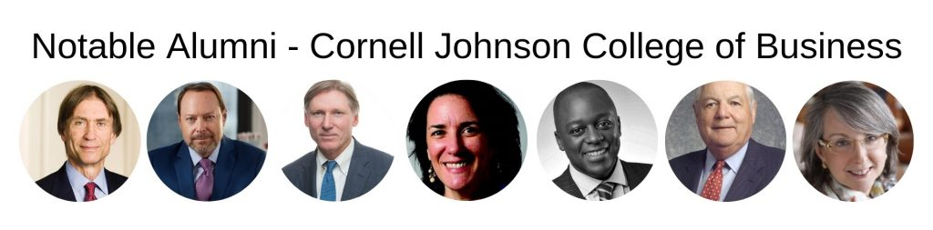 Cornell Johnson College of Business - Notable Alumni