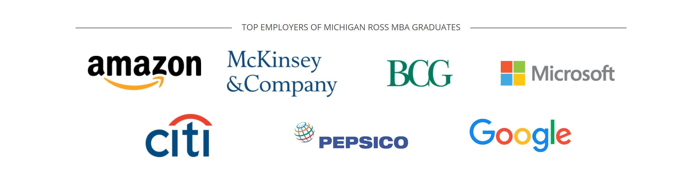 Michigan Ross School of Business - Top Employers