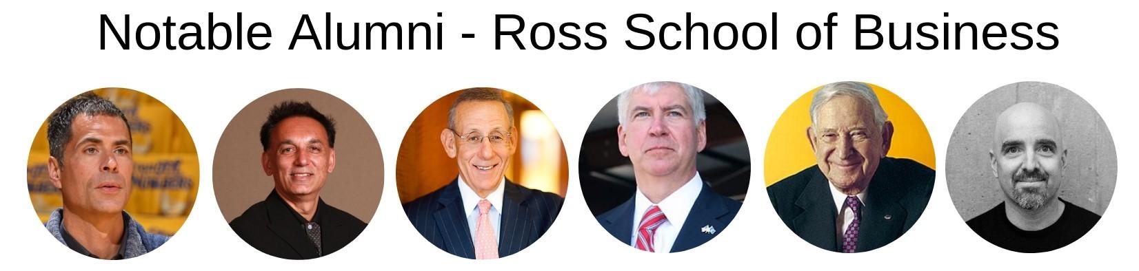 Ross School of Business - Notable Alumni