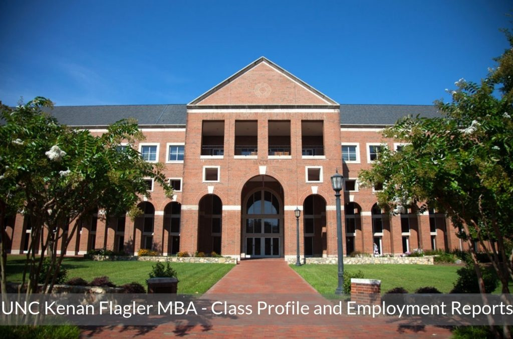 UNC Kenan Flagler Business School MBA Program - Class Profile, Career and Employment Outcomes