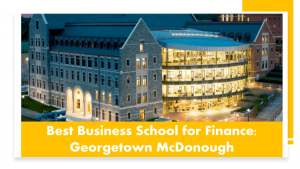 Top MBA programs for Finance - Georgetown