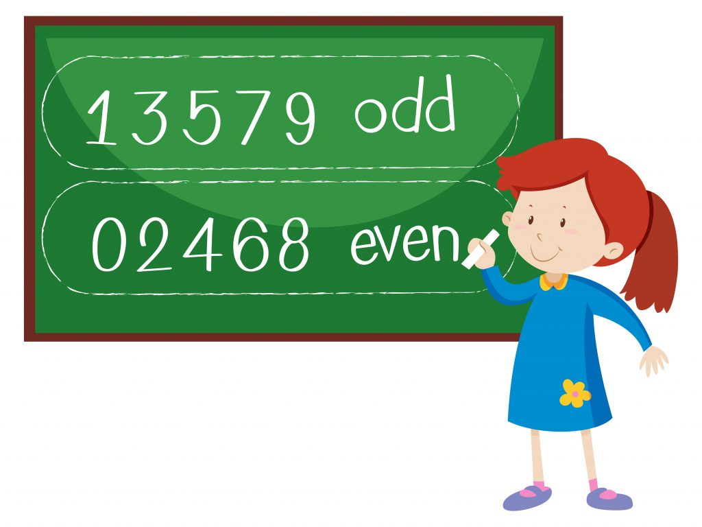 Properties of numbers - even and odd numbers