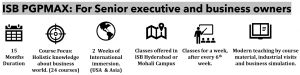 ISB PGPMAX Snapshot Executive MBA