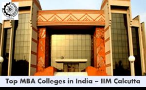 Top MBA colleges in India - IIM Calcutta