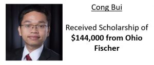 Cong Bui received $144,000 scholarship