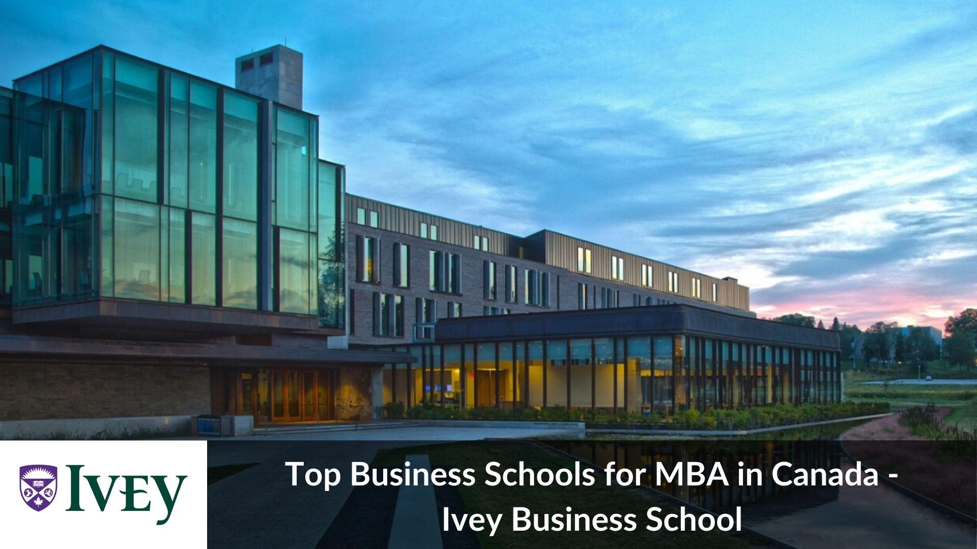 Top MBA universities in Canada - Ivey Business School