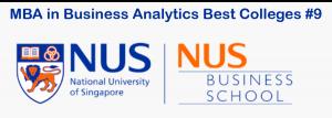 Best MBA analytics program - NUS MBA