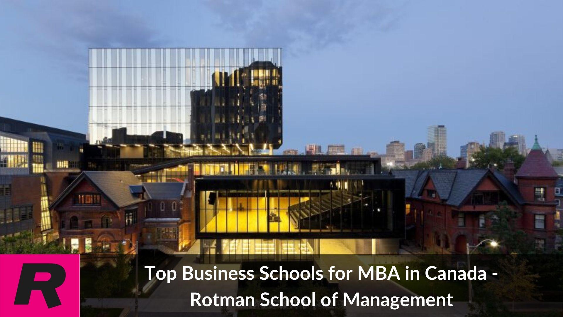 Top MBA universities in Canada - Rotman school of management
