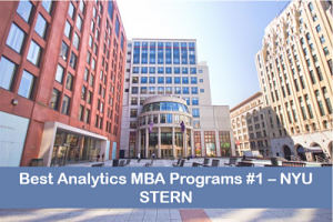MBA in business analytics top programs #1 NYU