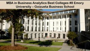 MBA business analytics best colleges - Goizueta