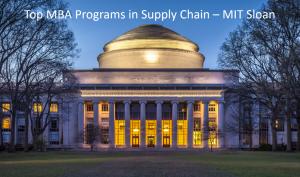 Top MBA Programs SCM - MIT