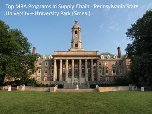 Top MBA Programs SCM - Penn Smeal