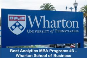 MBA in business analytics top programs #3 Wharton