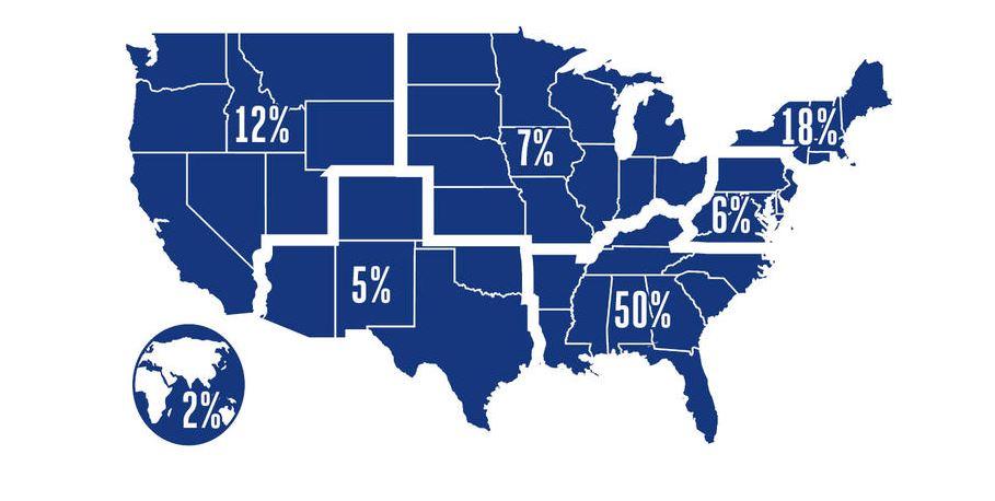 Emory Goizueta MBA - Employment by Region