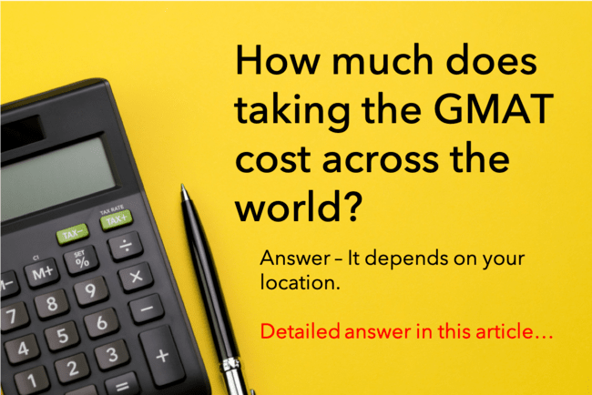 Cost of GMAT across the world