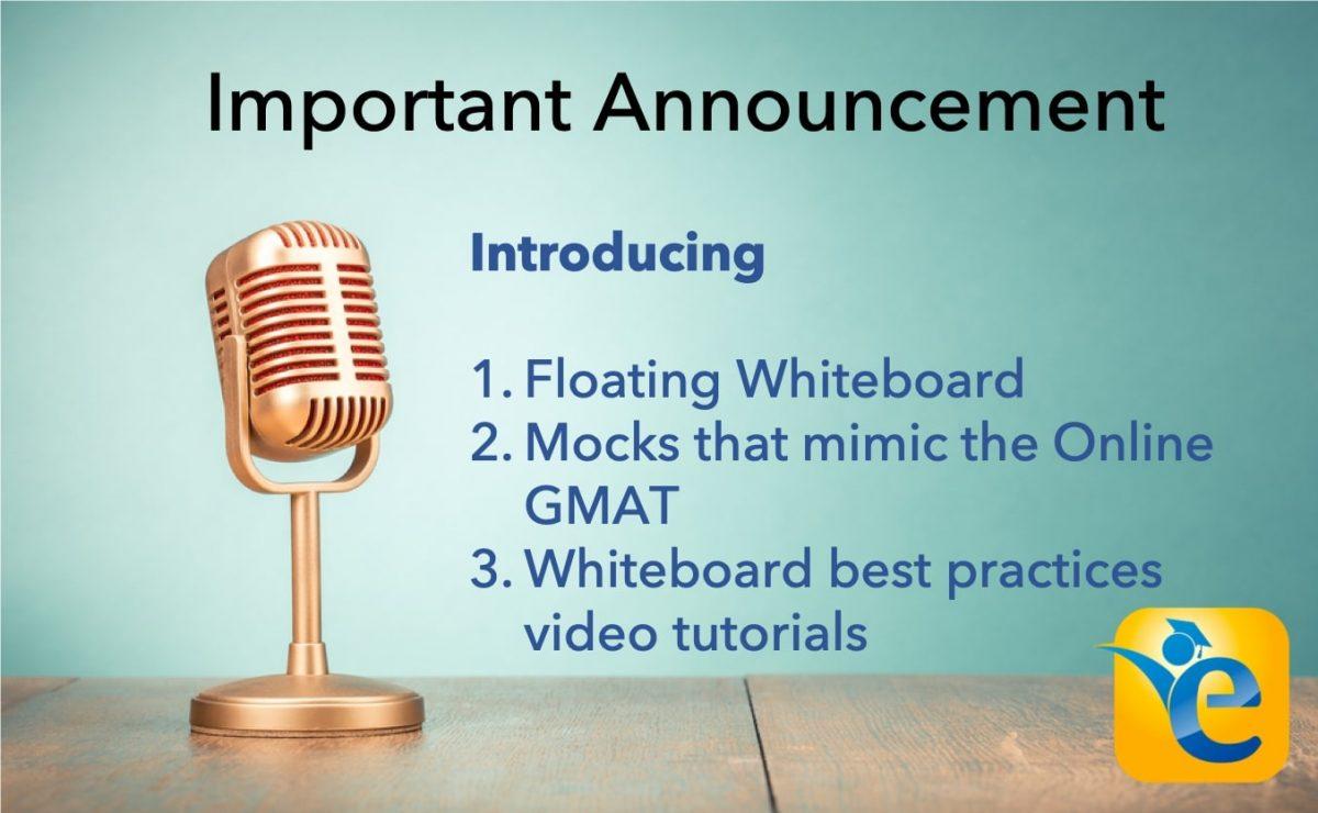 GMAT whiteboard