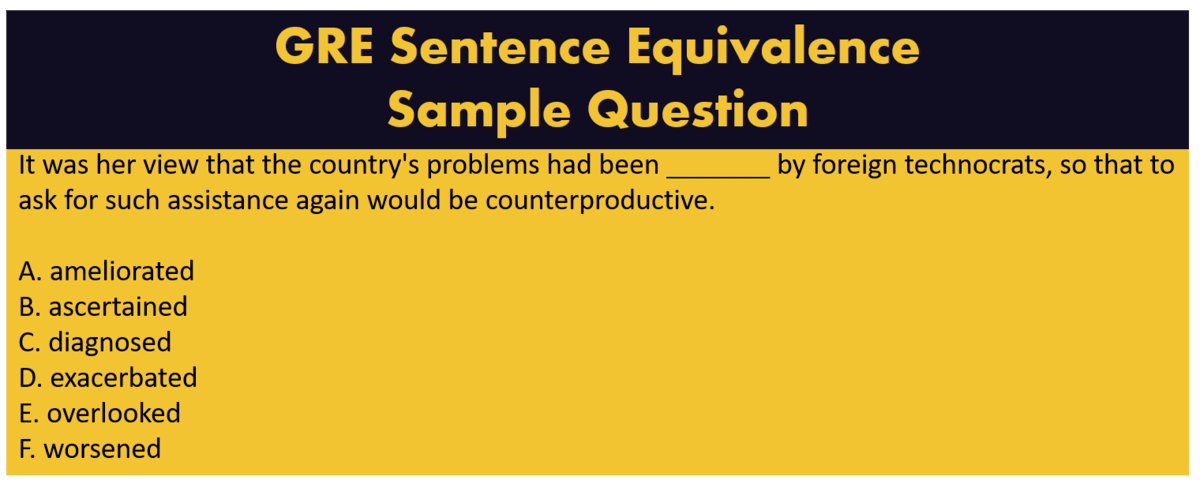 GRE Sentence Equivalence Questions