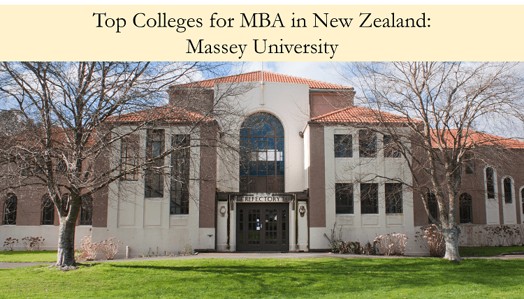 Massey University top colleges for MBA