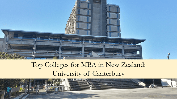 University of Canterbury top colleges for MBA