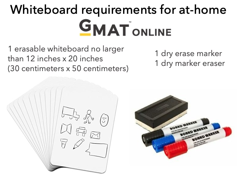 GMAC allows real physical whiteboard on the GMAT Online