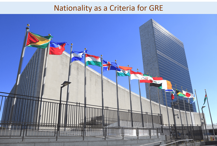 Nationality criteria for GRE eligibility
