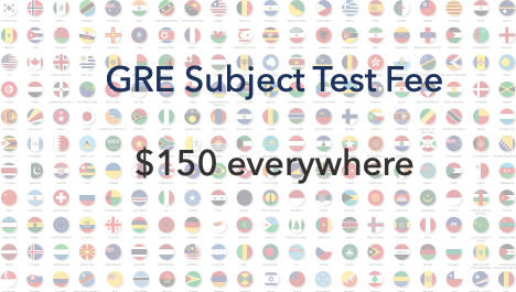 GRE subject test fee