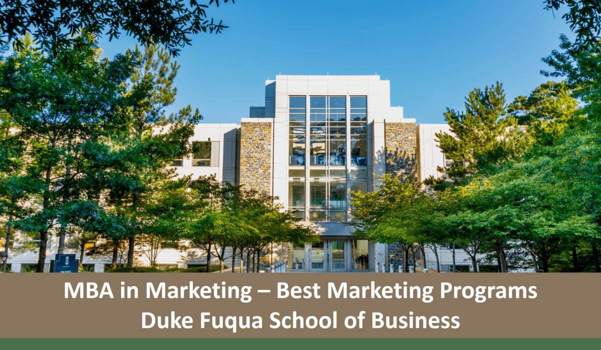 best marketing mba programs Duke