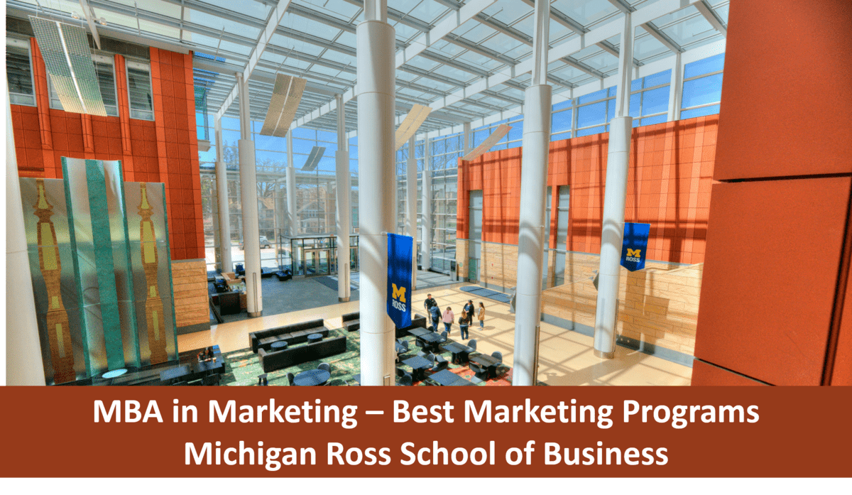 Best Marketing MBA Programs Michigan ross