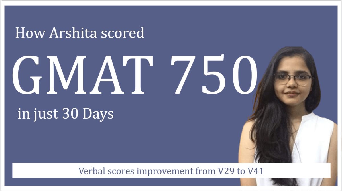 GMAT 750 in 30 days