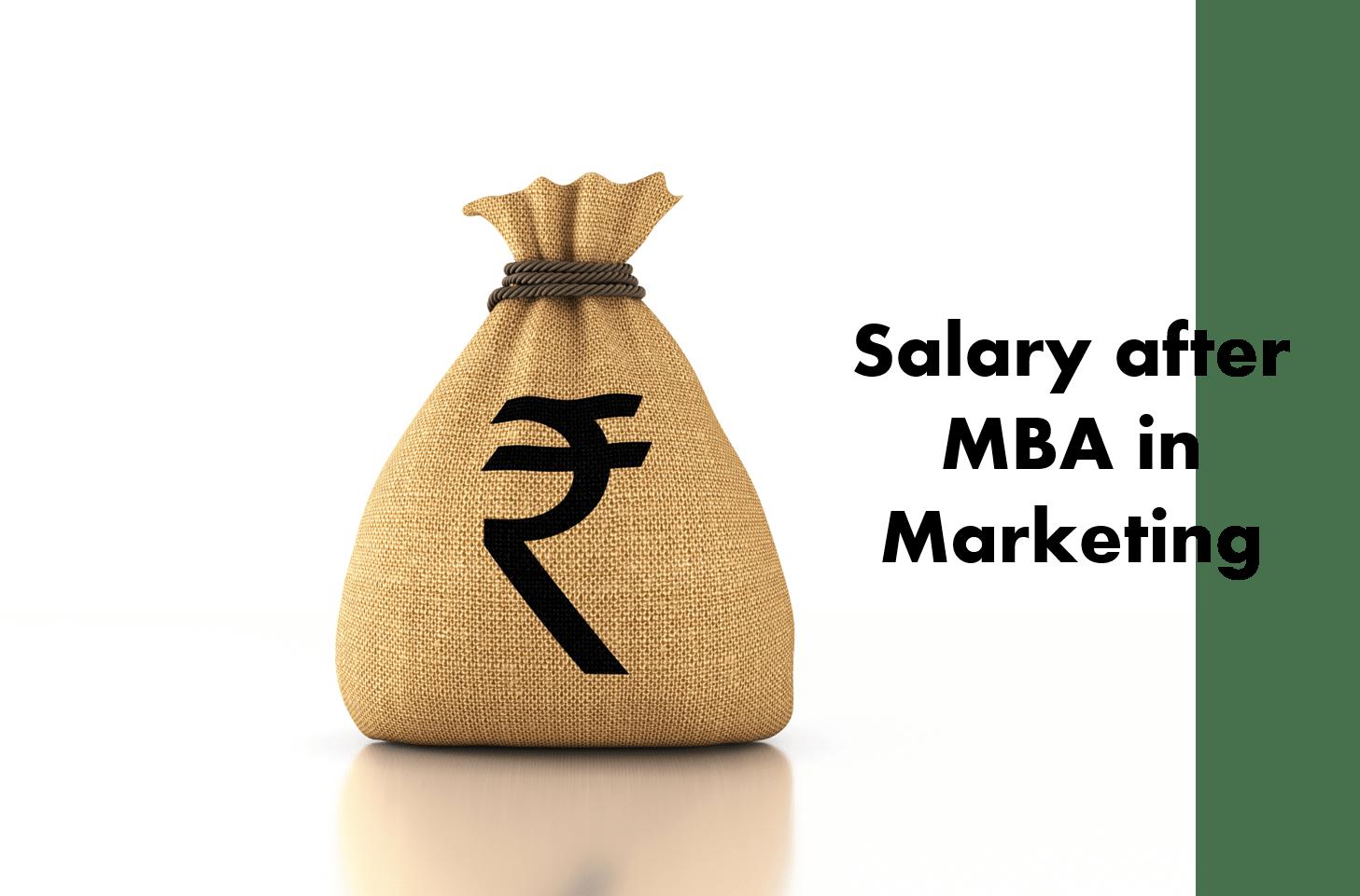 MBA Marketing salary in India
