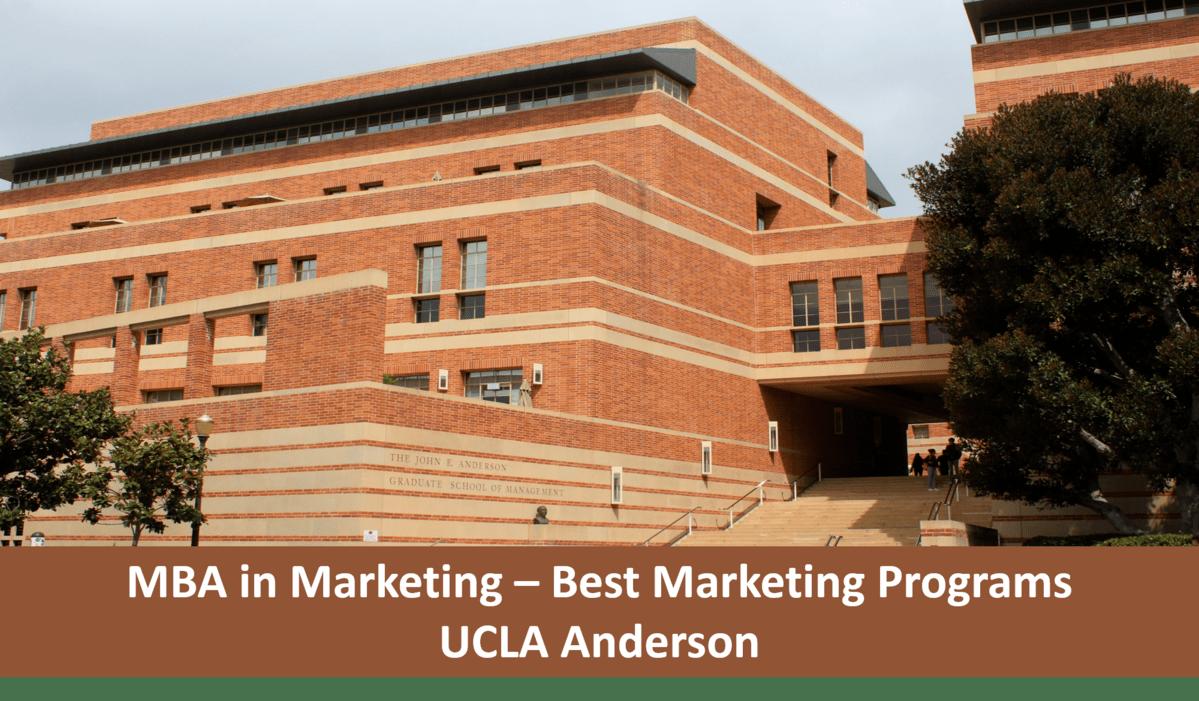 ucla anderson MBA marketing