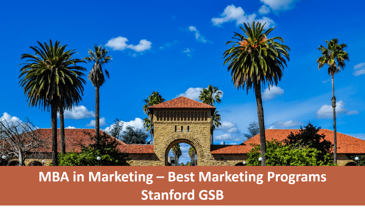 Stanford GSB marketing concentration