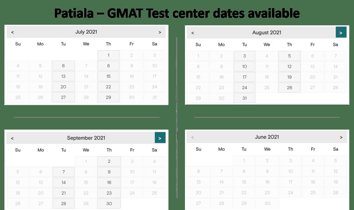 GMAT exam dates - Patiala