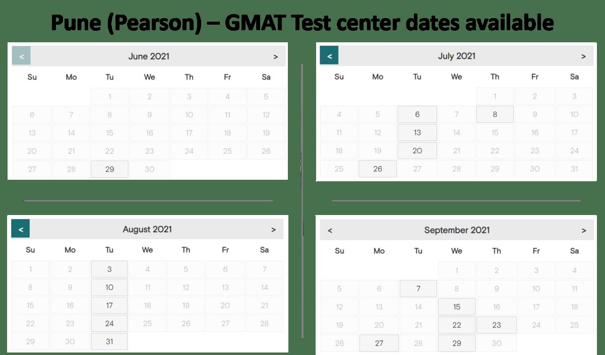 GMAT Exam dates - Pune