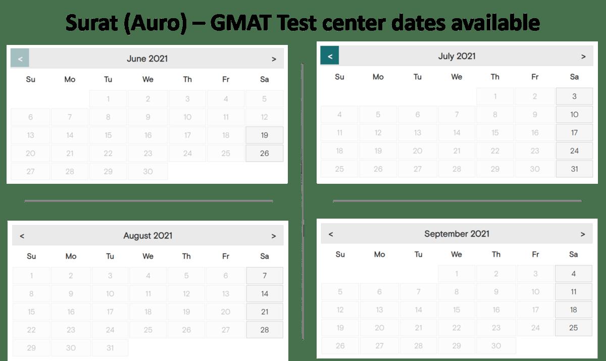 GMAT Exam dates - Auro