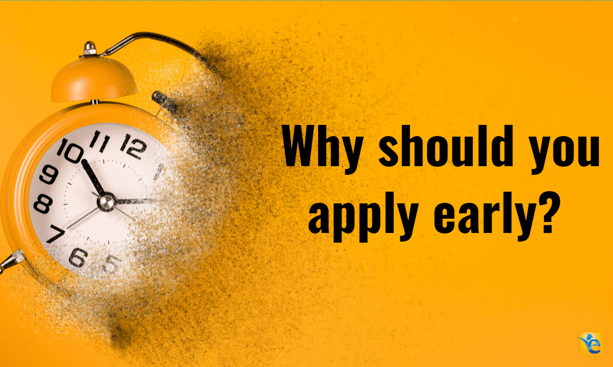 Why should you apply early to MBA application round?