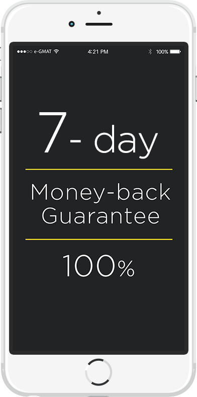 7 day money back guarantee with e-GMAT courses