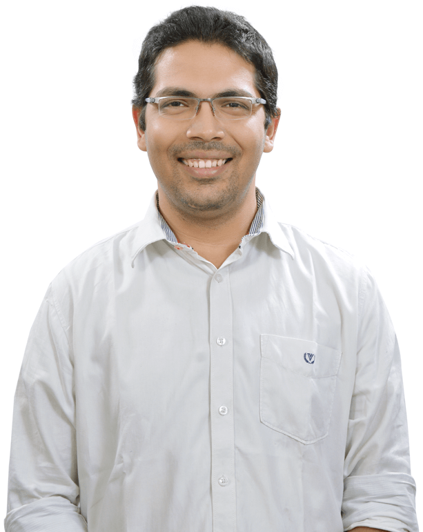 e-GMAT's Top Instructor Krishna Chaitanya Front Facing Photograph